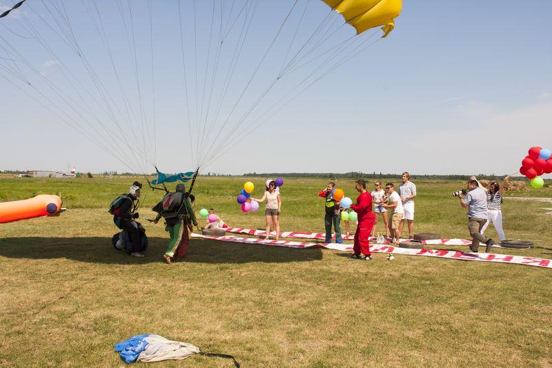 приземление парашют