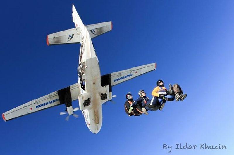 тройка прыжки с парашютом