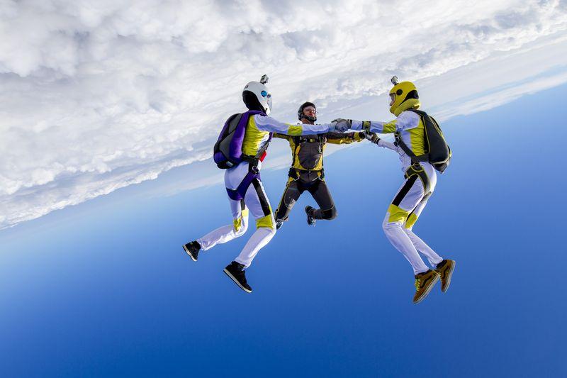 прыжки с парашютом свободное падение