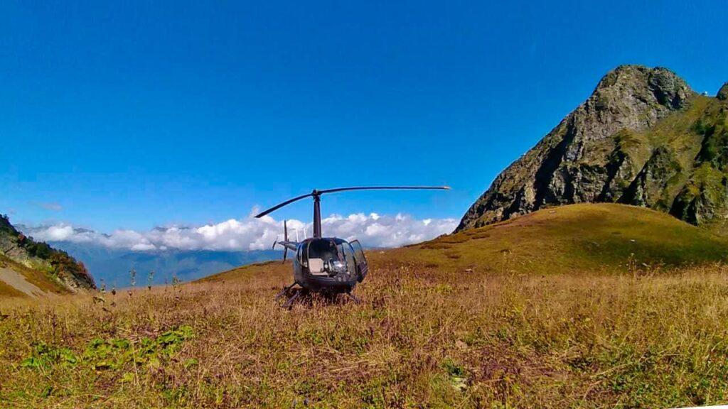 вертолет красная поляна
