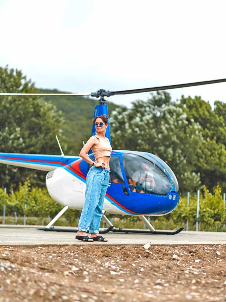 вертолет в абрау новороссийск